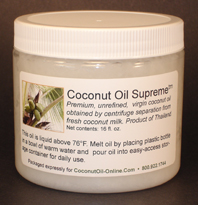 Coconut Oil Supreme™ 16 fl oz PET jar